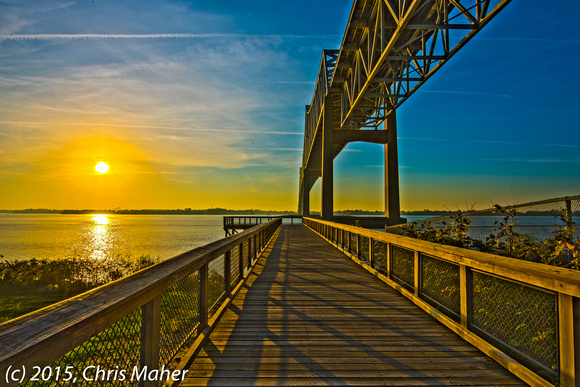 009-Sunrise at the Commodore Barry