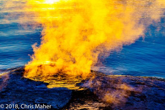 048-Sunlit Steam - West Thumb Geyser Basin Yellowstone