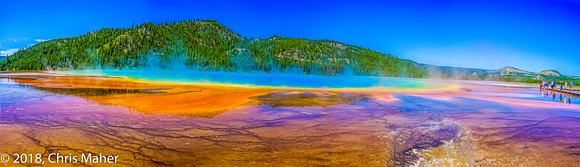 051-Grand Prismatic Panorama - Midway Geyser Basin Yellowstone