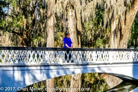 005-Donna on Bridge in Magnolia Plantation