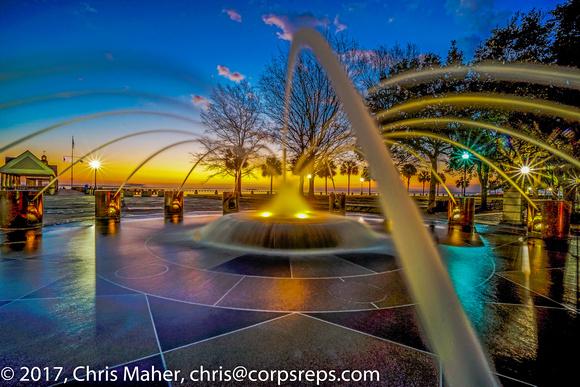 004-Fountain in Charleston facing Cooper River