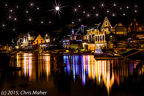 010-Boathouse Row under Stars